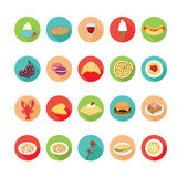 Italian food icons set. Royalty Free Stock Photography