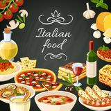 Italian Food Illustration vector illustration