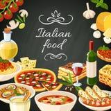 Italian Food Illustration Stock Image