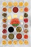 Italian Food Ingredient Sampler Royalty Free Stock Images