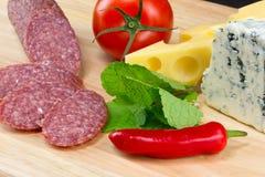 Italian food ingredients stock image