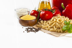 Italian Food Ingredients Royalty Free Stock Images