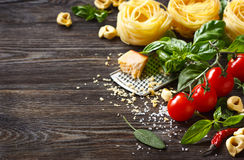Italian food ingredients. stock images