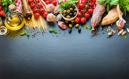 Italian Food Ingredients Royalty Free Stock Image