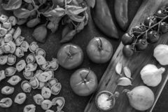 Italian food ingredients. stock photos