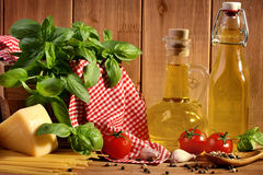 Italian food ingredients Royalty Free Stock Photo