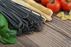 Italian food ingredients Royalty Free Stock Photos