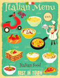 Italian Food Menu Royalty Free Stock Photo