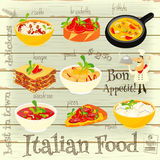 Italian Food Menu Stock Images