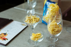 Italian food and menu Stock Photos