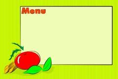 Italian food menu restaurant vector illustration