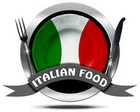 Italian Food - Metal Icon Royalty Free Stock Image