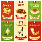 Italian Food Mini Poster Royalty Free Stock Images