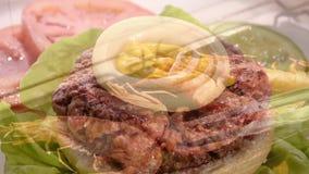 Italian food montage stock video footage