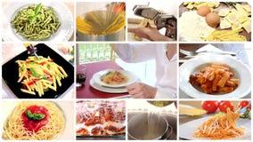 Italian food montage stock footage