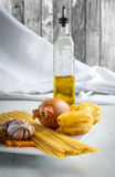 Italian food. Is one of the healthiest in the world, therefore is included in the Mediterranean diet stock photo