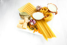 Italian food. Is one of the healthiest in the world, therefore is included in the Mediterranean diet stock image