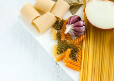 Italian food. Is one of the healthiest in the world, therefore is included in the Mediterranean diet stock photos
