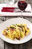 Italian food. Pasta Carbonara. Royalty Free Stock Image