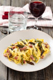 Italian food. Pasta Carbonara. Stock Photo