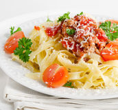 Italian food - Pasta Royalty Free Stock Photos