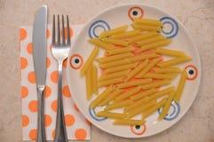 Italian pasta penne rigate. Italian food pasta Stock Image
