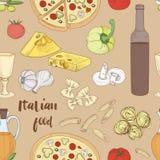 Italian food pattern Royalty Free Stock Image