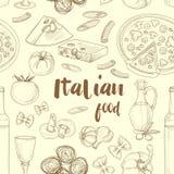 Italian food pattern Stock Photography