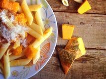 Italian food - Penne pasta with pumpkin Stock Photo