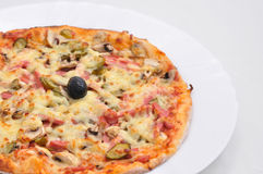 Italian food - pizza Royalty Free Stock Photography