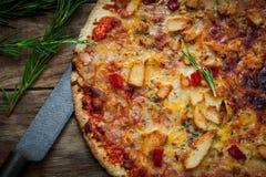 Italian food pizza Royalty Free Stock Photography