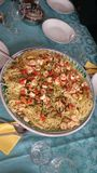 Italian food. Real italian food for a big family Royalty Free Stock Images