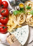 Italian food recipe on rustic wood Stock Photo