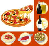 Italian food set Stock Images