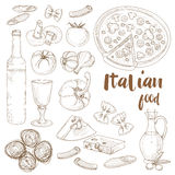 Italian food set Royalty Free Stock Images