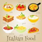Italian Food Set Royalty Free Stock Photos