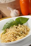 Italian food setting with pasta Royalty Free Stock Image