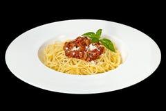 Italian food. Spaghetti Bolognese. Royalty Free Stock Photography