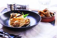 Italian food spaghetti Stock Image