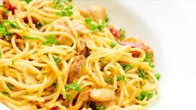 Italian food stock video footage