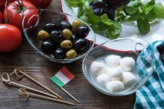 Italian food starter Royalty Free Stock Photography