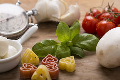 Italian food still life Royalty Free Stock Image
