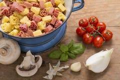 Italian food still life Royalty Free Stock Images