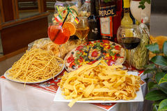 Italian food on the streets of Rome, Italy royalty free stock image