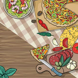 Italian food table Stock Photo