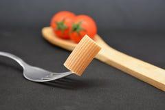Italian pasta rigatoni. Italian food tomato Royalty Free Stock Photography