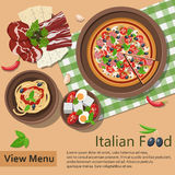 Italian food. Royalty Free Stock Photo