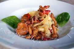 Italian food. On white plate stock photo