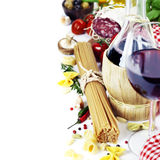Italian food and wine Royalty Free Stock Photo