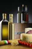 Italian foodstuff. Italian raw foodstuff still life Royalty Free Stock Images